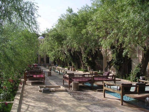 Traditional Persian outdoor teahouse